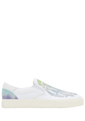 Watercolor Skeleton Canvas Slip-on