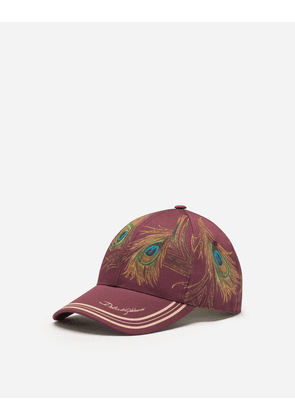 Dolce & Gabbana Hats and Gloves - FEATHER-PRINT BASEBALL CAP MULTICOLOR