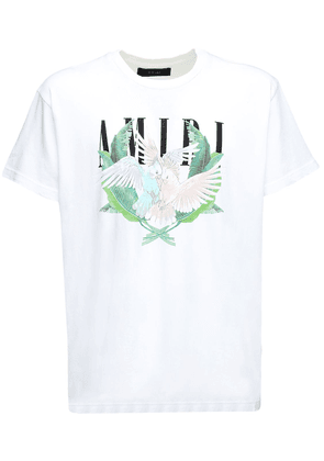Lovebirds Print Cotton Jersey T-shirt