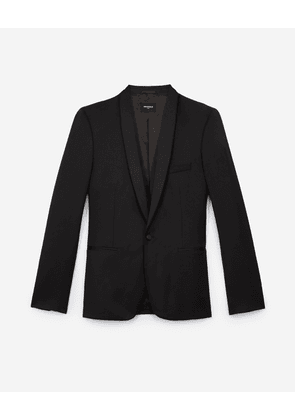 The Kooples - Black formal wool jacket with satin lapels - MEN