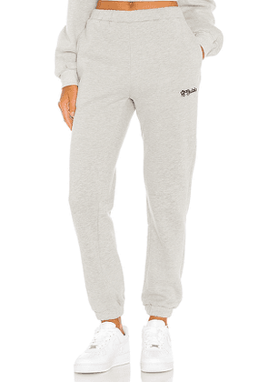 DANIELLE GUIZIO Logo Sweatpants in Grey. Size M,S,XS.