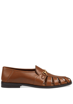 Gucci horsebit-detailed loafers - Brown