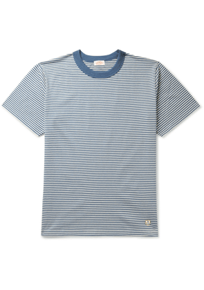 Armor Lux - Striped Cotton-Jersey T-Shirt - Men - Blue