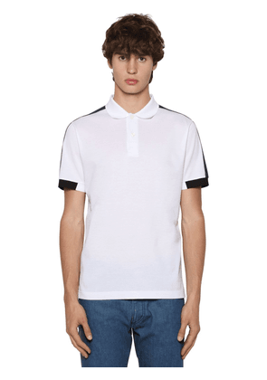 Cotton Piquet Tricot Polo Shirt