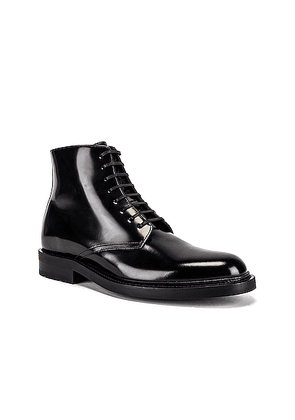 Saint Laurent Army Lace Up Boots in Black - Black. Size 45 (also in ).