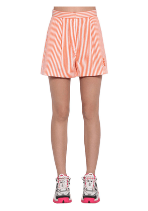 Striped Cotton Poplin Shorts
