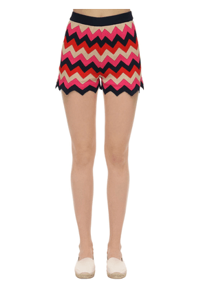 Cotton Rib Knit Shorts