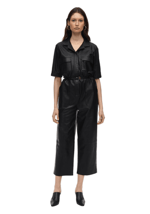 Utility Leather  Jumpsuit
