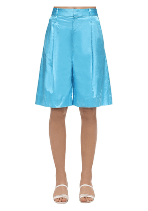 Satin Wide Leg Shorts
