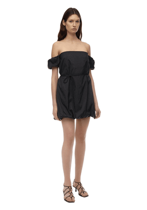 Off-the-shoulder Nylon Playsuit