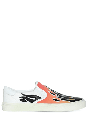 Flame Cotton Canvas Slip-on Sneakers