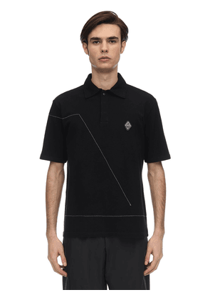 Rhombus Badge Cotton Polo