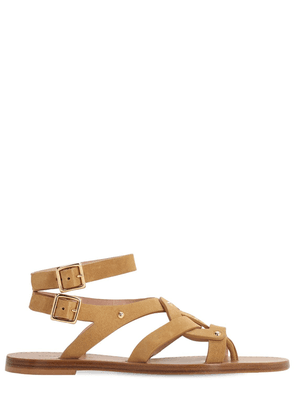 10mm Suede Flat Sandals