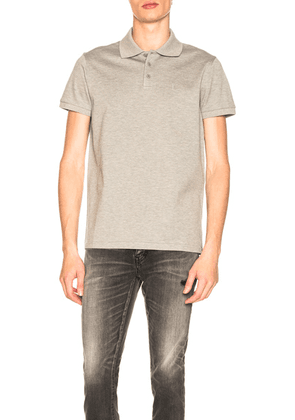 Saint Laurent Sport Polo in Grey - Gray. Size M (also in L,S).