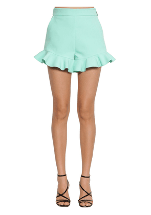 Ruffled Techno Crepe Shorts