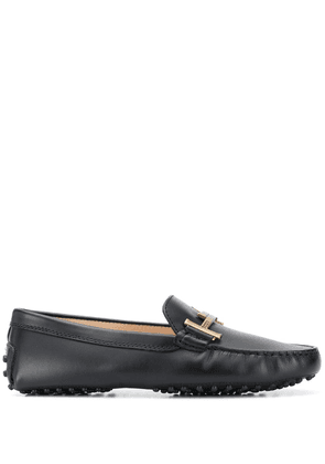 Tod's Gommino engraved logo driving shoes - Black