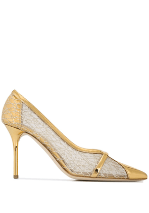 Malone Souliers Brook 85 pumps - GOLD
