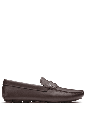 Prada Saffiano leather penny loafers - Brown
