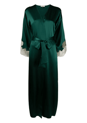 Gilda & Pearl silk Gina long robe - Green