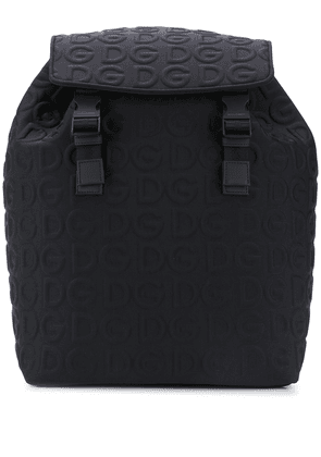 Dolce & Gabbana logo embossed backpack - Blue
