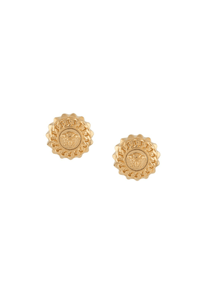 Versace Collection chained medusa earrings - GOLD