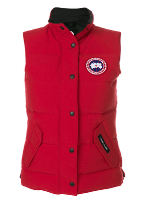 Canada Goose logo patch padded gilet - Red