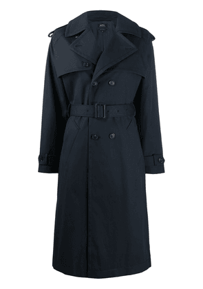 A.P.C. Simone double-breasted trench coat - Blue