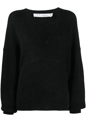 IRO V-neck knitted jumper - Black
