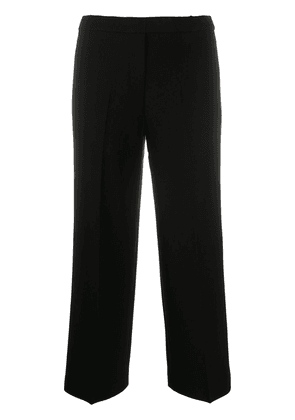 Theory cropped wide leg trousers - Black