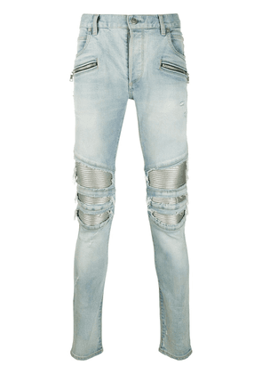 Balmain distressed skinny fit jeans - Blue