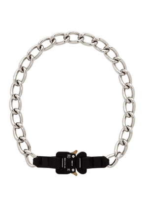1017 ALYX 9SM Silver Chain and Leather Buckle Necklace