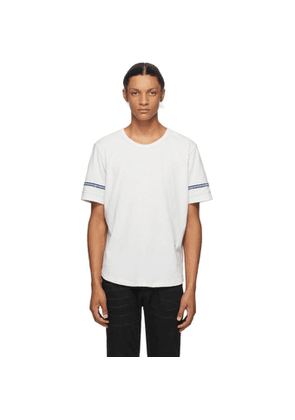 Saint Laurent Off-White and Blue Destroyed T-Shirt
