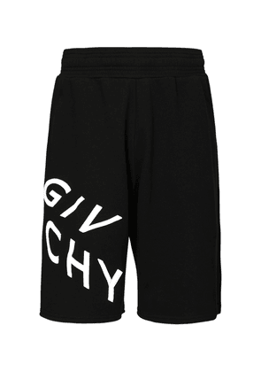 Reflective Logo Cotton Jersey Shorts