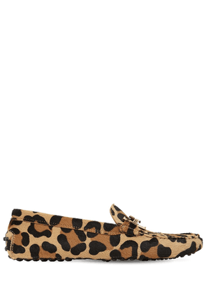 10mm Leopard Print Pony Skin Loafers
