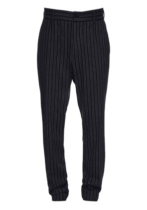 16cm Striped Stretch Cotton & Wool Pants