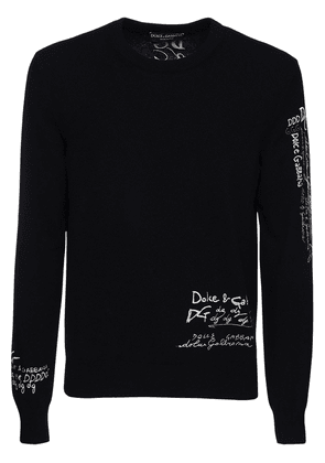 Logo Embroidery Cashmere Sweater