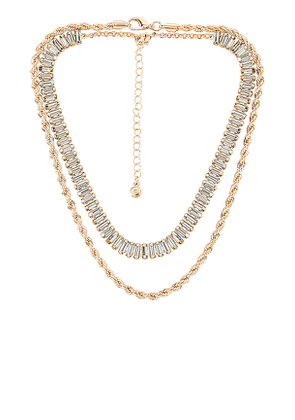 petit moments Shay & Angie Necklace Set in Metallic Gold.
