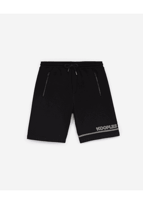 The Kooples - Black shorts in cotton blend w/double stripe - MEN