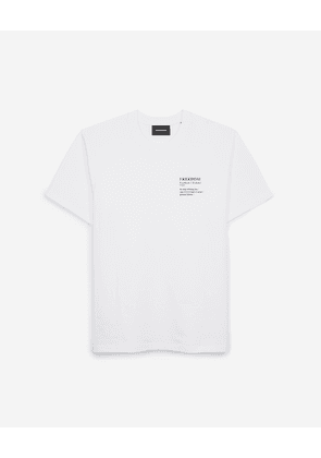 The Kooples - White cotton T-shirt with Freedom writing - MEN