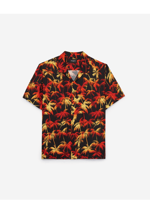 The Kooples - Hawaiian-collar cotton shirt for men w/print - MEN