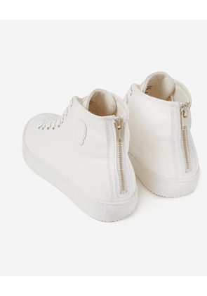 The Kooples - White high-top trainers with heel zip - MEN