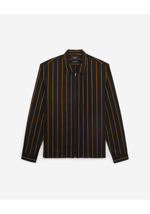 The Kooples - Striped black shirt with patch pockets - MEN