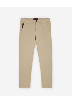 The Kooples - Beige cotton trousers w/leather coin pocket - MEN