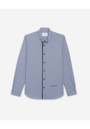 The Kooples - White cotton shirt with micro check motif - MEN