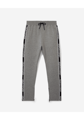 The Kooples - Skinny grey joggers with logo stripe - MEN