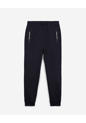 The Kooples - Slim blue joggers with zipped pockets & badge - MEN