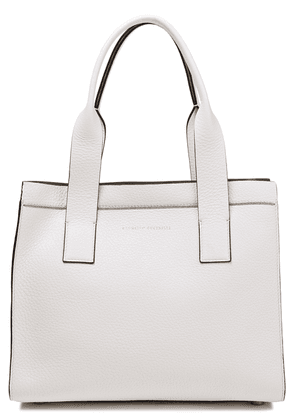 Brunello Cucinelli Bead-embellished Pebbled-leather Tote Woman Off-white Size --