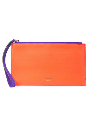 Emilio Pucci Smooth And Mirrored-leather Pouch Woman Orange Size --