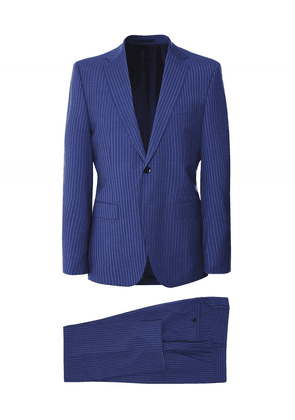 BOSS Slim Fit Pinstripe Jeckson/Lenon2 Suit Colour: Navy