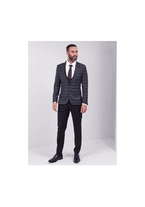 Remus Lucio 3 Piece Suit Colour: Charcoal